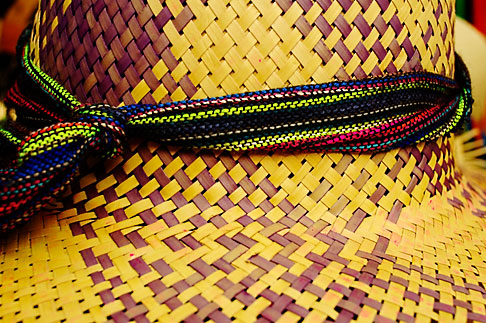image 4-850-4334 Mexico, Riviera Maya, Woven hat