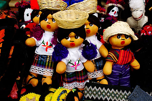 image 4-850-4425 Mexico, Playa del Carmen, Dolls in shop