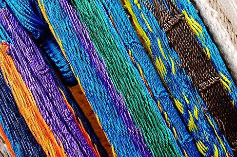 image 4-850-4435 Mexico, Riviera Maya, String hammocks