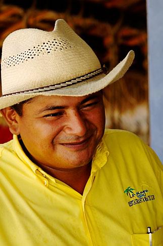 image 4-850-4737 Mexico, Riviera Maya, Portrait of man with sombrero