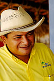 central america stock photography | Mexico, Riviera Maya, Portrait of man with sombrero, image id 4-850-4737