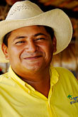 travel stock photography | Mexico, Riviera Maya, Portrait of man with sombrero, image id 4-850-4739