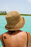 latin america stock photography | Mexico, Riviera Maya, Playa Maroma, Woman on boat, image id 4-850-4958