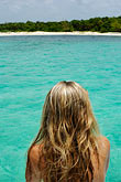 released stock photography | Mexico, Riviera Maya, Playa Maroma, Woman on boat, image id 4-850-4964