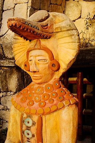 image 4-850-5201 Mexico, Riviera Maya, Contemporary Mayan statue