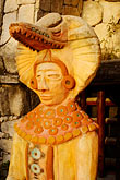 travel stock photography | Mexico, Riviera Maya, Contemporary Mayan statue, image id 4-850-5201