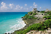 mayan sites stock photography | Mexico, Yucatan, Tulum, El Castillo , image id 4-871-7