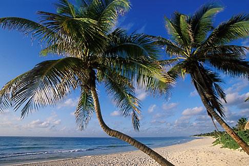 image 4-873-10 Mexico, Riviera Maya, Tulum, Early morning on the beach