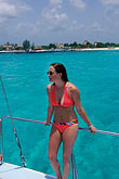one young woman only stock photography | Mexico, Riviera Maya, Relaxing on a boat, image id 4-873-90
