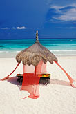 thatch stock photography | Mexico, Riviera Maya, Xpu Ha Beach, Al Cielo, Palapa, image id 4-882-86