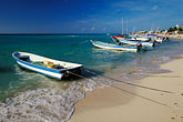seashore stock photography | Mexico, Playa del Carmen, Fishing Boats, image id 4-886-3