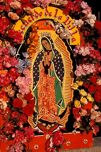 image 5-27-34 Mexican Art, Floral display for the Virgin of Guadalupe