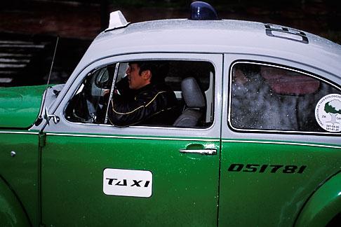 image 5-4-14 Mexico, Mexico City, Volkswagen taxi, Paseo de la Reforma