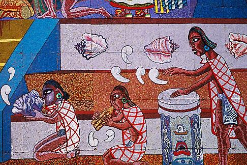 image 5-56-27 Mexico, Mexico City, Diego Rivera mosaic, History of Theater in Mexico, Teatro Insurgentes