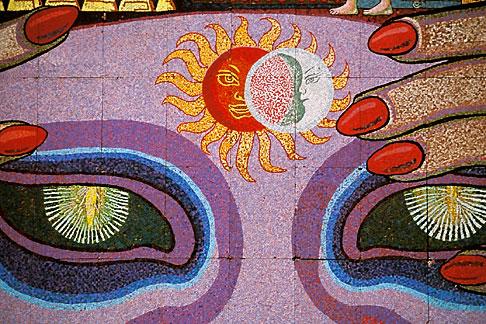 image 5-56-4 Mexico, Mexico City, Diego Rivera mosaic, History of Theater in Mexico, Teatro Insurgentes