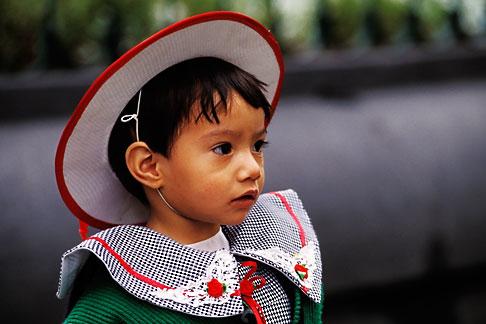 image 5-59-23 Mexico, Mexico City, Young girl, Plaza Hidalgo, Coyoacan