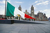 central america stock photography | Mexico, Mexico City, Raising the Mexican flag on Constitution Day, Z�calo, image id 5-68-29