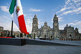 national holiday stock photography | Mexico, Mexico City, Raising the Mexican flag on Constitution Day, Z�calo, image id 5-68-34
