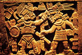 central america stock photography | Mexican art, Detail of carving, Round stone, Cuauhxicalli, Museo de Anthropologia, image id 5-82-36