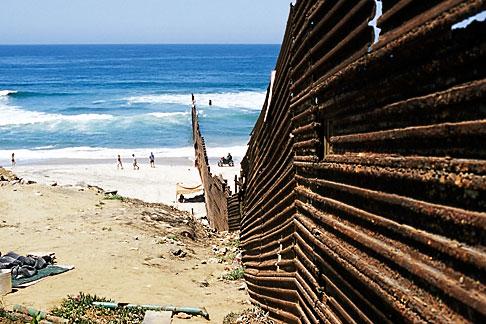 image S4-235-15 Mexico, Tijuana, Mexico USA Border fence