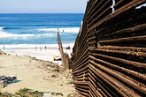 seashore stock photography | Mexico, Tijuana, Mexico-U.S.A. Border fence, image id S4-235-15