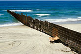 pacific ocean stock photography | Mexico, Tijuana, Mexico-U.S.A. Border fence, image id S4-235-16