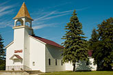 upper peninsula stock photography | Michigan, Upper Peninsula, Church, Nahma, image id 4-940-1098