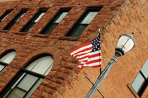 image 4-940-911 Michigan, Upper Peninsula, Munising, Flag