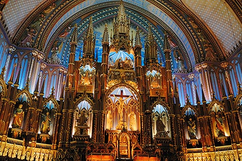 image 6-460-1594 Canada, Montreal, Basilica de Notre Dame