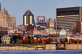 skyline stock photography | Canada, Montreal, Montreal skyline at dusk, image id 6-460-1807