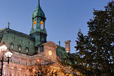 town hall clock tower stock photography | Canada, Montreal, Hotel de Ville, image id 6-460-2124