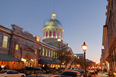 lit stock photography | Canada, Montreal, Bonsecours Market at night, image id 6-460-2391