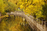 autumn foliage stock photography | Canada, Montreal, Lachine Canal, bridge, image id 6-460-7263