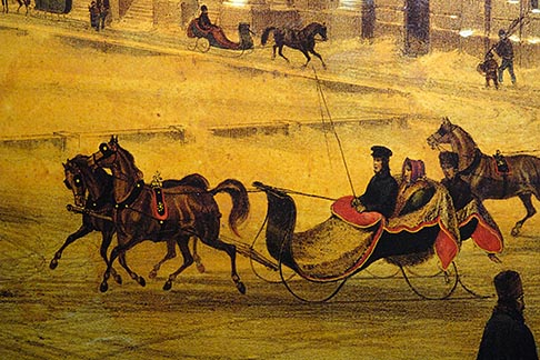 image 6-460-7330 Canada, Montreal, Painting of horse and sleigh
