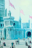 plaza stock photography | Canada, Montreal, Painting of Ice Castle, image id 6-460-7334