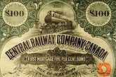reward stock photography | Canada, Montreal, Central Railway bond, image id 6-460-7343