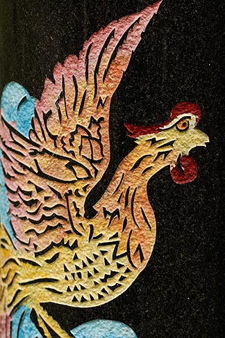 image 6-460-7468 Canada, Montreal, Mount Royal Cemetery, Gravestone decoration, rooster