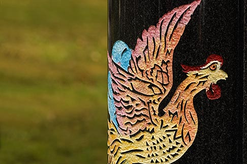 image 6-460-7469 Canada, Montreal, Mount Royal Cemetery, Gravestone decoration, rooster