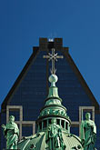 blue sky stock photography | Canada, Montreal, Basilica of Notre Dame, roof decoration, image id 6-460-7553