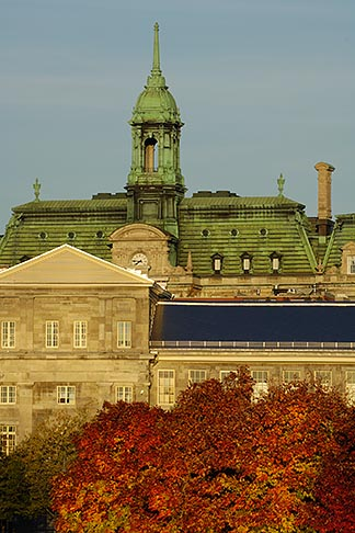 image 6-460-7869 Canada, Montreal, Hotel de Ville with fall foliage