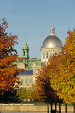 illuminated stock photography | Canada, Montreal, Bonsecours Market with fall foliage, image id 6-460-7905
