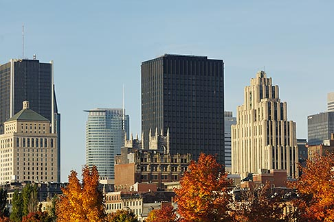 image 6-460-7909 Canada, Montreal, Downtown skyline