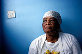 one mature woman only stock photography | Montserrat, Mrs. Morgan, restaurant owner, St. John