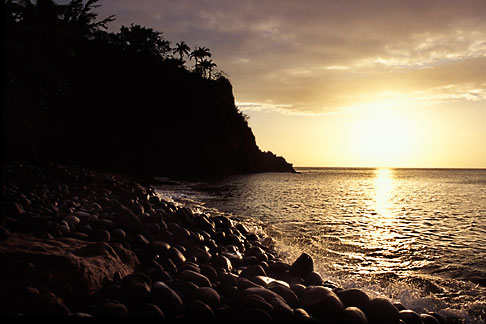 image 0-157-3 Montserrat, Sunset, Woodlands Beach