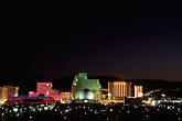 city skyline stock photography | Nevada, Reno, City lights at night, image id 0-326-44