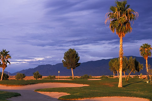 image 3-850-46 Nevada, Mesquite, Palms Golf Course, 8th hole green