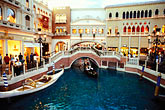 water stock photography | Nevada, Las Vegas, Venetian Resort Hotel Casino, Grand Canal, image id 3-900-34