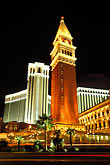 amusement stock photography | Nevada, Las Vegas, Venetian Resort Hotel Casino at night, image id 3-900-85