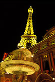 fountain stock photography | Nevada, Las Vegas, Paris Hotel and Casino , image id 3-901-20
