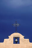 church roof stock photography | New Mexico, Santa Fe, Adobe church and sky, image id 6-245-36
